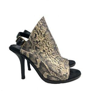 Kelsi Dagger Cameo Snake Leather Heel Shoe